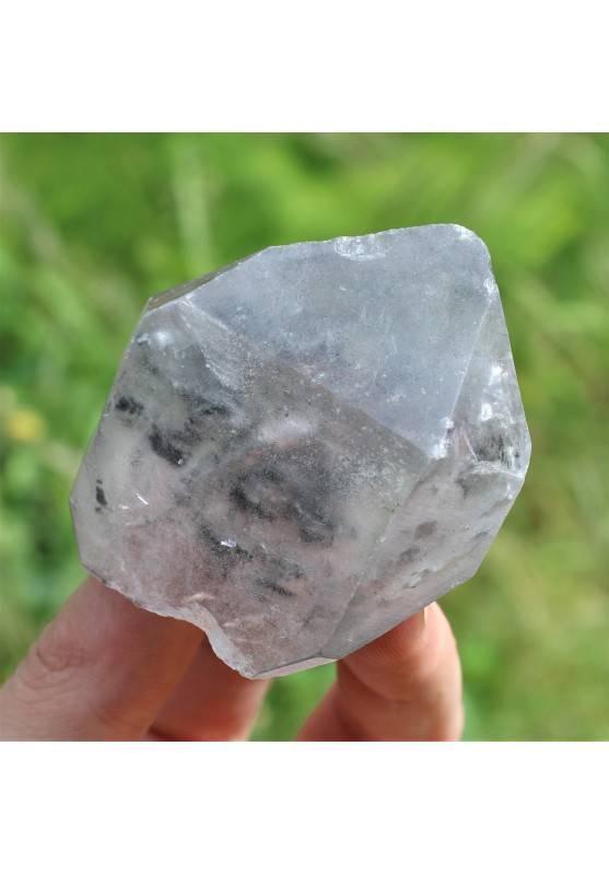 Minerales Punta Cuarzo Blanco Inclusiones Enhydro terapia de Cristales Chakra A+-1