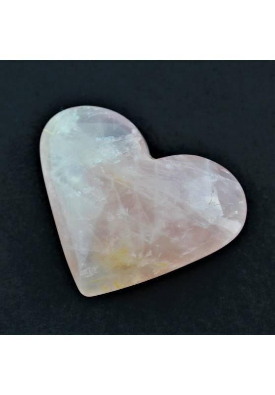 CUORE in QUARZO ROSA Pietra dell'Amore Qualità Extra Cristalloterapia A+-1