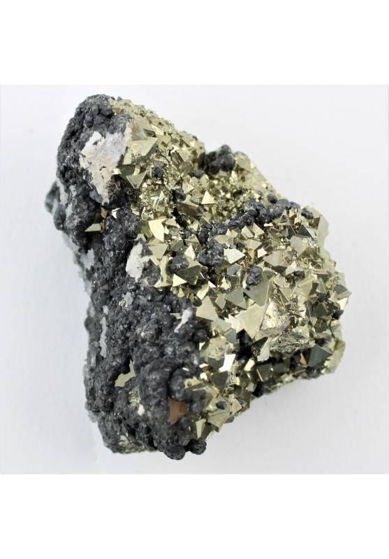 Minerales PIRITA con Marcasita 205g Alta Calidad Decoración de Hogar Sulfatos A+-1