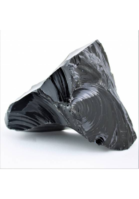 Minerals Black OBSIDIAN Flame Chunk Volcanic Crystal Healing Chakra Reiki Zen A+-2