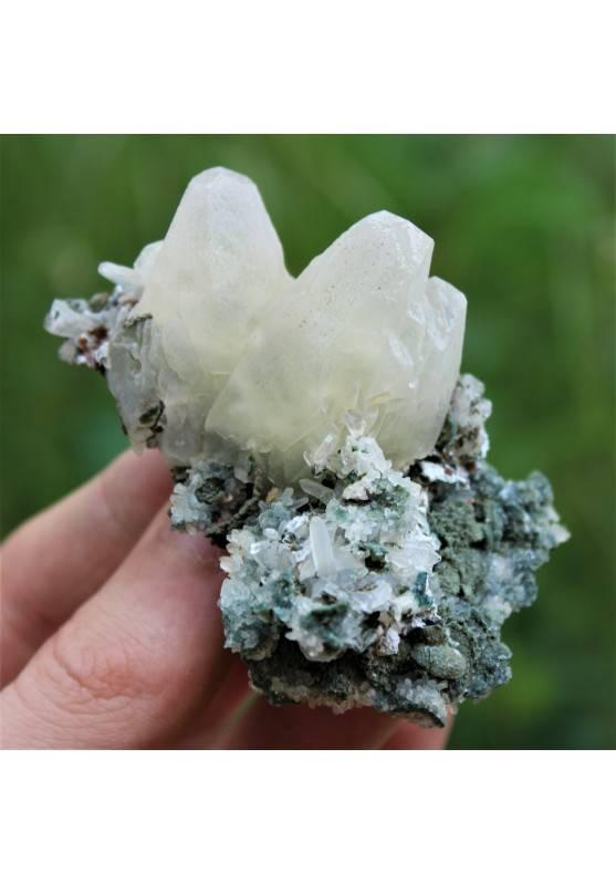 Minerales Cristales Flor AMATISTA con Calcita Terapia de Cristales A+-2