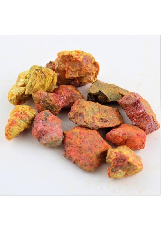 Minerali * Orpimento Grezzo Collezionismo Giallo Arancione Solfuro di Arsenico-1