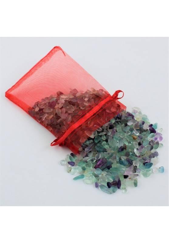 Sacchetto Fluorite Burattata 100gr Chips Minerali Cristalloterapia Collezionismo-2