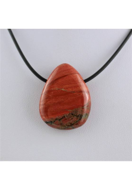 Pendant Bead in RED Jasper Necklace Crystal Healing Chakra A+-1