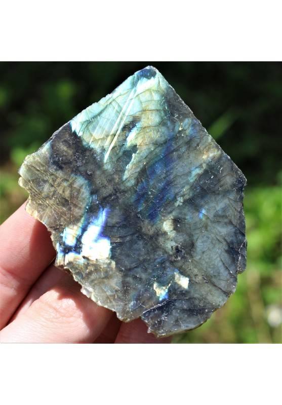 LABRADORITE Piastra Minerali Collezionismo Arredamento Extra Qualità Chakra-1
