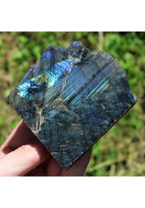 Minerali LABRADORITE Burattata Piastra Riflessi Collezionismo Extra Qualità-2