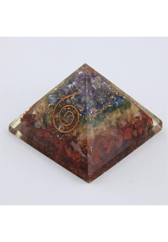 GRANDE Pirámide ORGONITE 7 Chakra Minerales Cristaloterapia-4