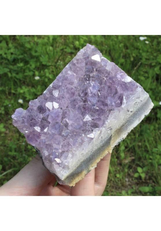 Buena Drusa Amatista Alta Calidad Flor Terapia de Cristales Chakra Zen 146gr A+-1