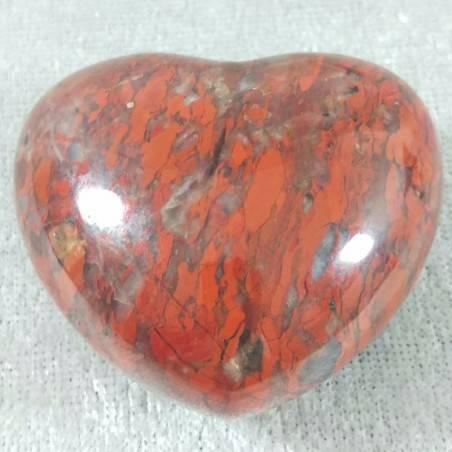 HEART in RED Brecciated JASPER BIG LOVE Crystal Healing MINERALS Gift Idea-1