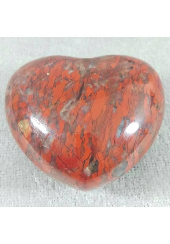 HEART in RED Brecciated JASPER BIG LOVE Crystal Healing MINERALS Gift Idea-2
