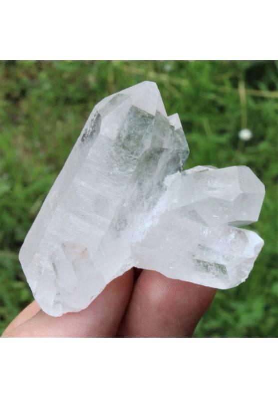 Drusa Gruppo QUARZO IALINO Cristallo di Rocca Collezionismo Alta Qualità A+ 47g-2