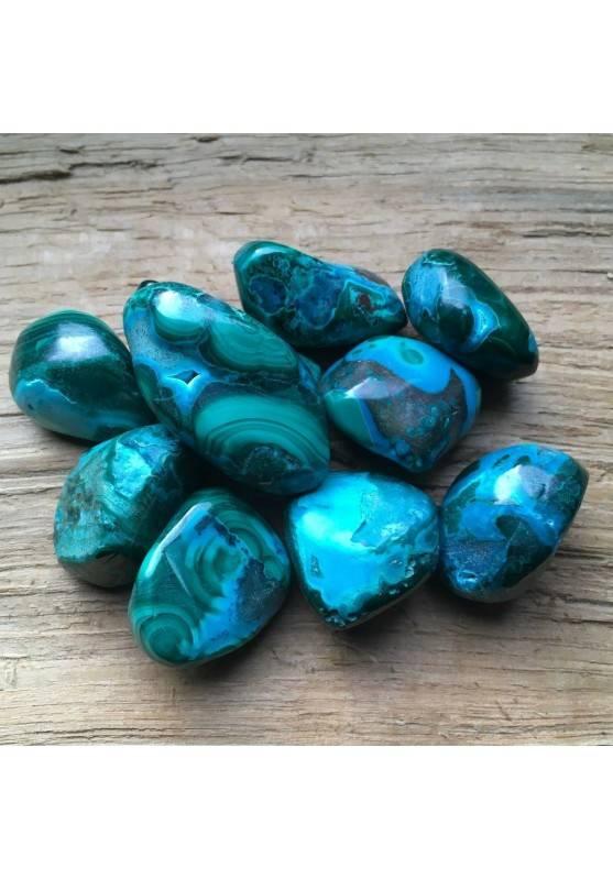 Polished MALACOLLA Tumbled Stone Malachite + Chrysocolla Crystal Healing RARE-1