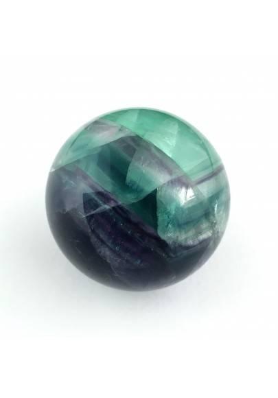 * MINERALI * SFERA in Fluorite Mista Verde-Viola Collezionismo Alta Qualità A+-1