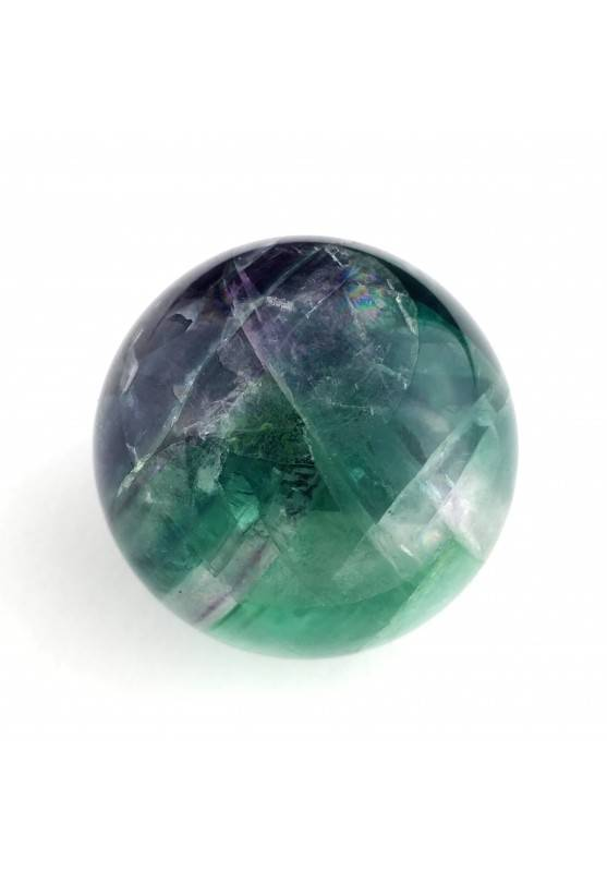 * MINERALI * SFERA in Fluorite Mista Verde-Viola Collezionismo Alta Qualità A+-2