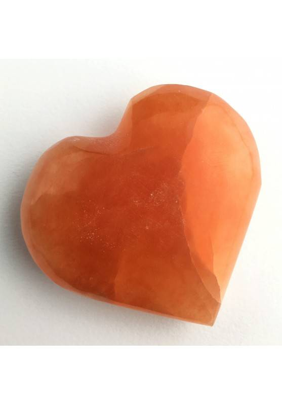 HEART in Orange / Peach Selenite High Quality A+ LOVE Crystal Healing Specimen-1