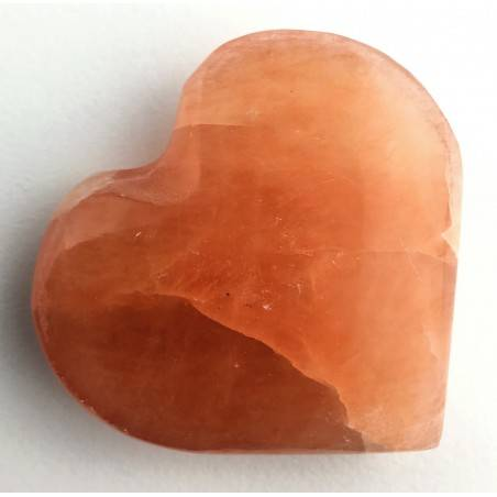 HEART in Orange / Peach Selenite High Quality A+ LOVE Crystal Healing Specimen-2