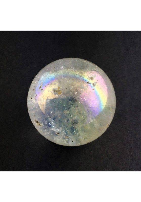 * MINERALS * TRUE Aqua Aura Rainbow Quartz Sphere Orb Crystal Healing Chakra High Quality-1