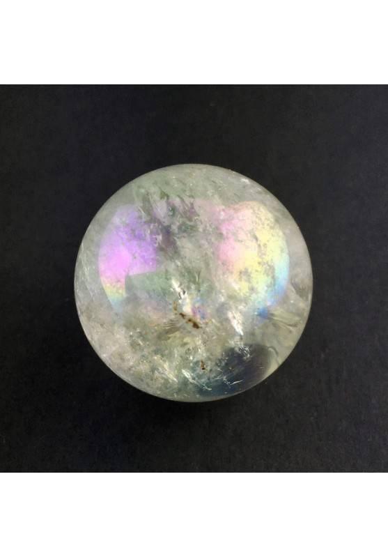 * MINERALI * SFERA in Vero QUARZO Aqua Aura 29mm Diametro Chakra Alta Qualità A+-1
