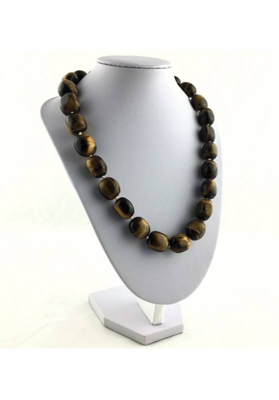 Wonderful Necklace in Tiger's EYE Tumbled Gift Idea Chakra Zen High Quality A+-2
