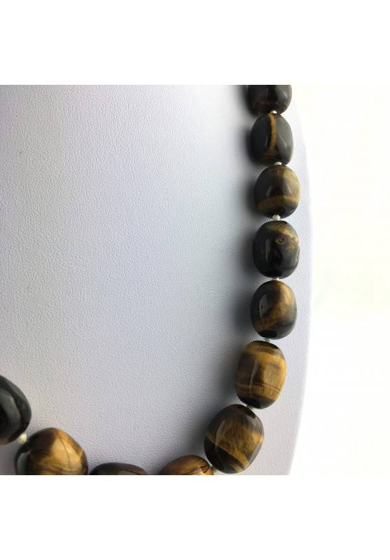 Wonderful Necklace in Tiger's EYE Tumbled Gift Idea Chakra Zen High Quality A+-3