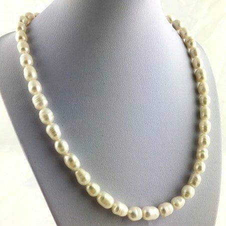 Wonderful Necklace in PEARL Naturals Grezze Gift Idea Chakra Reiki High Quality A+-1