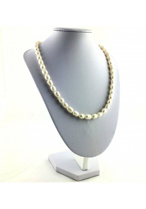 Wonderful Necklace in PEARL Naturals Grezze Gift Idea Chakra Reiki High Quality A+-2