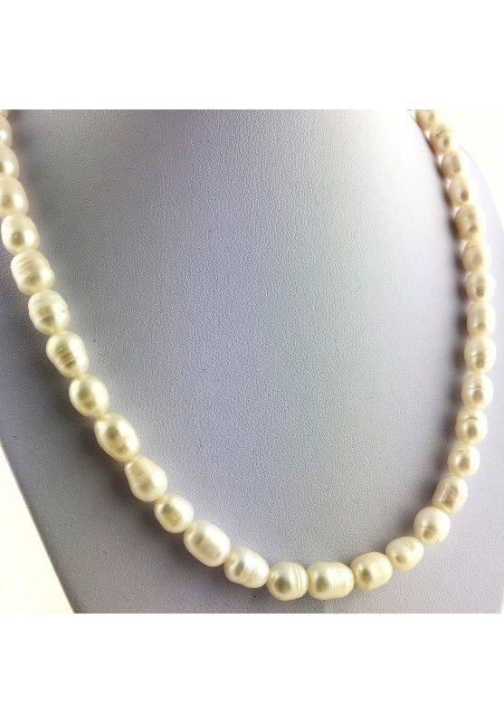 Wonderful Necklace in PEARL Naturals Grezze Gift Idea Chakra Reiki High Quality A+-4