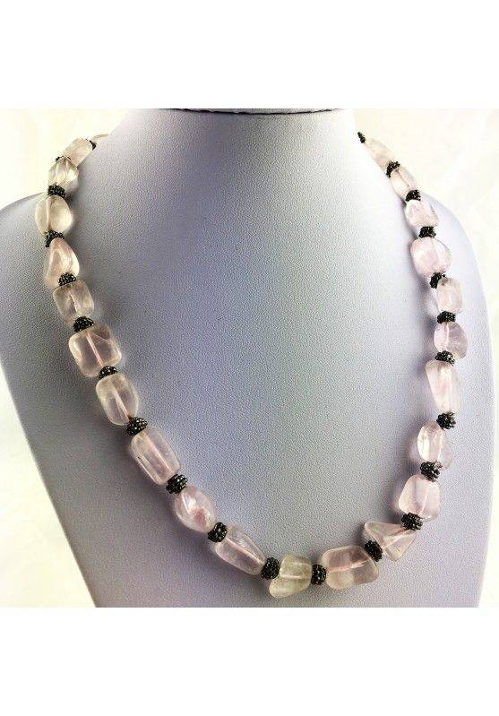 Wonderful Necklace in Rose Quartz Gift Idea Crystal Healing Chakra High Quality A+-1