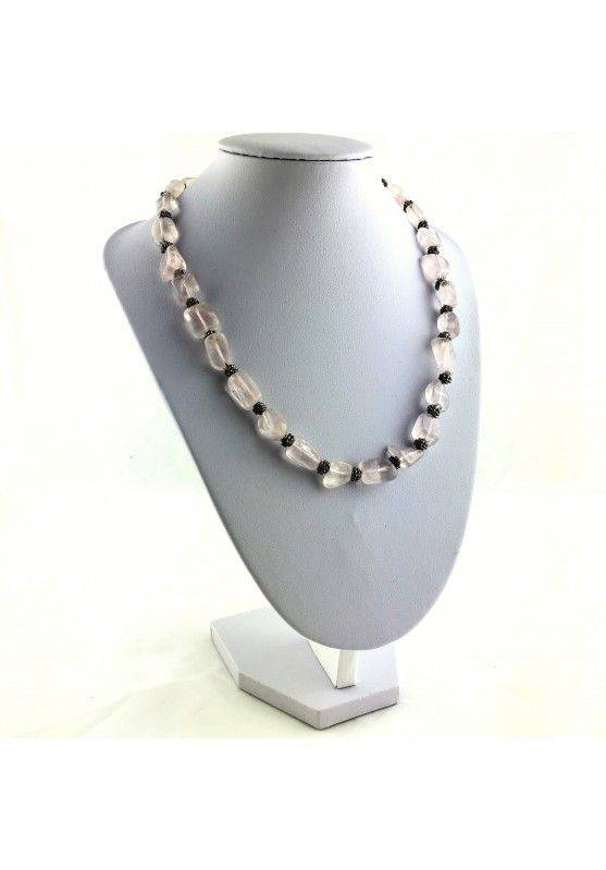 Wonderful Necklace in Rose Quartz Gift Idea Crystal Healing Chakra High Quality A+-2