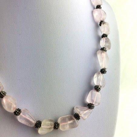 Wonderful Necklace in Rose Quartz Gift Idea Crystal Healing Chakra High Quality A+-3
