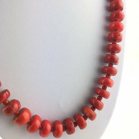Precious Necklace in Coral Red Natural Gift Idea MINERALS High Quality A+-2