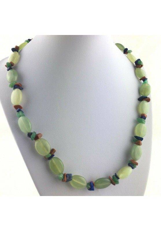 Wonderful Necklace in JADE Lapis Lazuli AVENTURINE SUN STONE Quality A+-1