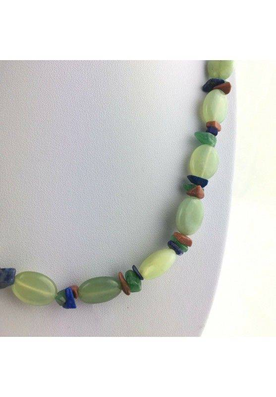 Wonderful Necklace in JADE Lapis Lazuli AVENTURINE SUN STONE Quality A+-2