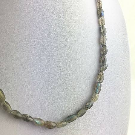 Wonderful Perfect Necklace in LABRADORITE with Reflections High Quality A+ MINERALS-2