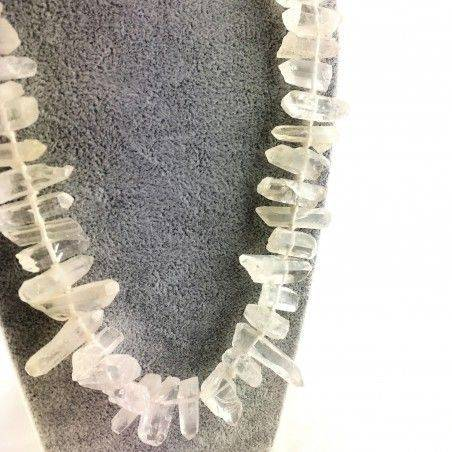 Wonderful Necklace in Hyaline Quartz Double Terminated Rock CRYSTAL Crystal A+-2