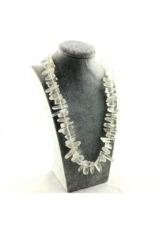 Wonderful Necklace in Hyaline Quartz Double Terminated Rock CRYSTAL Crystal A+-4
