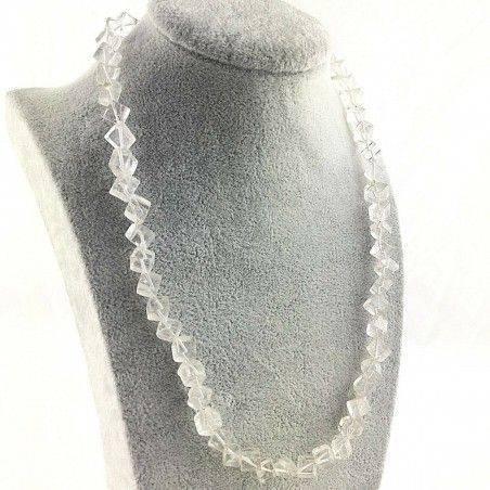 Stupenda COLLANA in QUARZO IALINO Cubico CRISTALLO DI ROCCA Regalo Minerali A+-1
