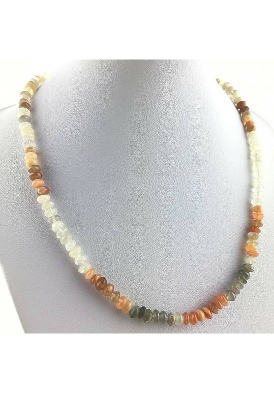 Perfect Necklace in ADULARIA Moon Stone Gift Idea MINERALS Chakra Reiki Zen A+-1
