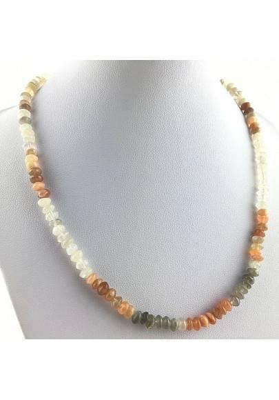 Perfect Necklace in ADULARIA Moon Stone Gift Idea MINERALS Chakra Reiki Zen A+-1