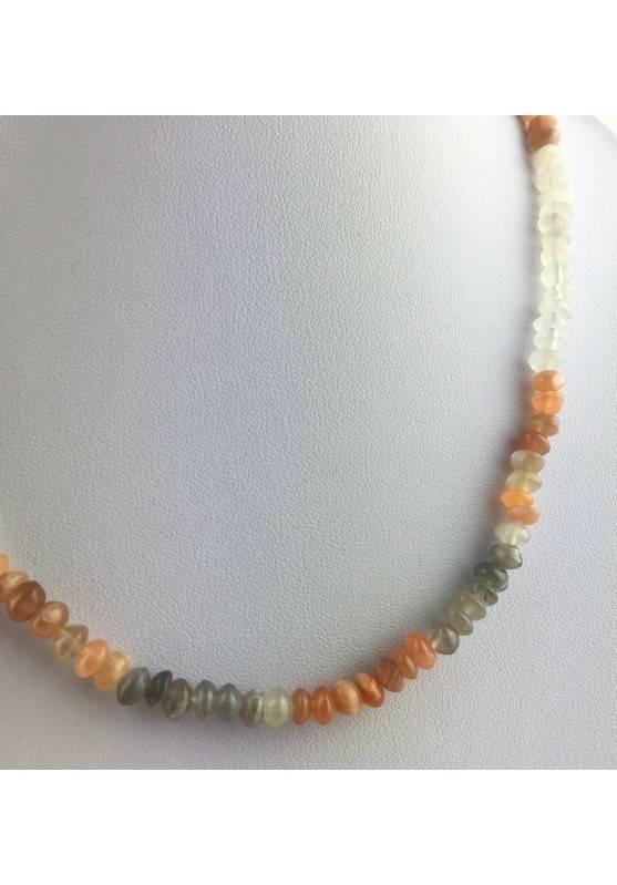 Perfect Necklace in ADULARIA Moon Stone Gift Idea MINERALS Chakra Reiki Zen A+-2