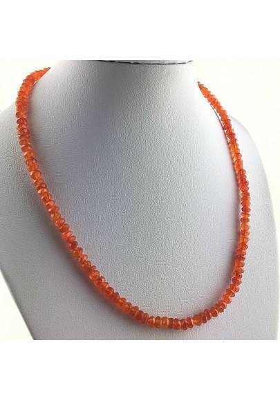 Perfect Necklace in CARNELIAN SFace Facetedttata MINERALS Red Gift Idea High Quality A+-1