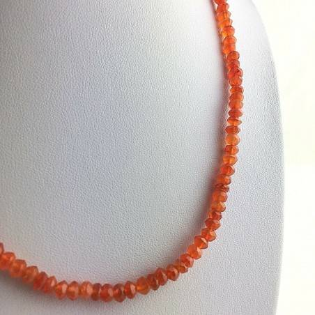 Perfect Necklace in CARNELIAN SFace Facetedttata MINERALS Red Gift Idea High Quality A+-2