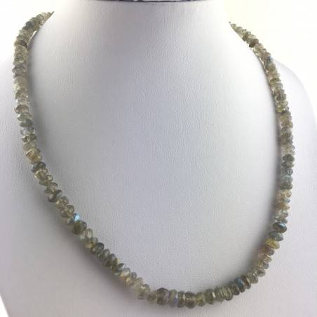 Wonderful Necklace in LABRADORITE Faceted High Quality A+ Riflessi Chakra Zen-1