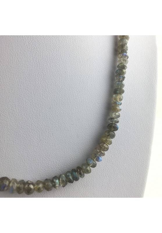 Wonderful Necklace in LABRADORITE Faceted High Quality A+ Riflessi Chakra Zen-2