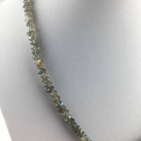 Wonderful Necklace in LABRADORITE Faceted High Quality A+ Riflessi Chakra Zen-3