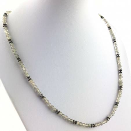 Perfect Necklace in LABRADORITE Spheres Wonderful Mineral High Quality Chakra A+-1