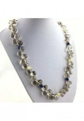 Magnifica Necklace in Smoked QUARTZ Rock CRYSTAL Lapis Lazuli CALCITE A+-2