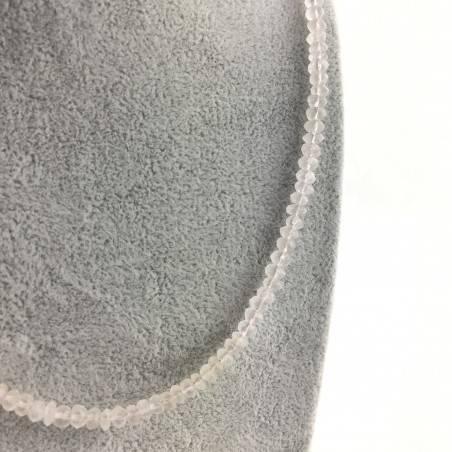 Finissima COLLANA in QUARZO ROSA Sfaccettato Minerali Alta Qualità Chakra Zen A+-2