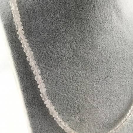 Finissima COLLANA in QUARZO ROSA Sfaccettato Minerali Alta Qualità Chakra Zen A+-3