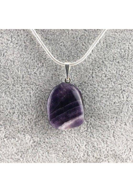 Pendant Dogtooth AMETHYST Charm Crystal Healing Chakra Necklace MINERALS-1